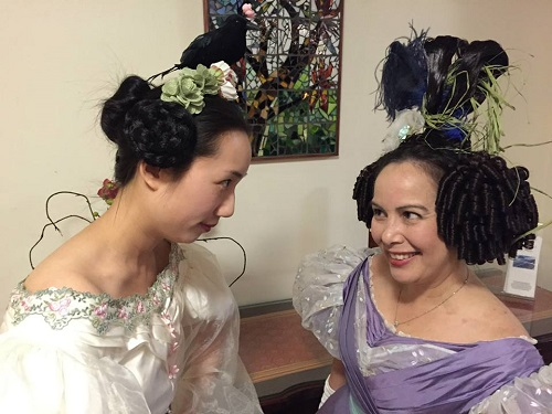 1830s Romantic Era Hair. Photo by Vivien Lee.
