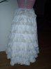 Reproduction bustle petticoat: back view