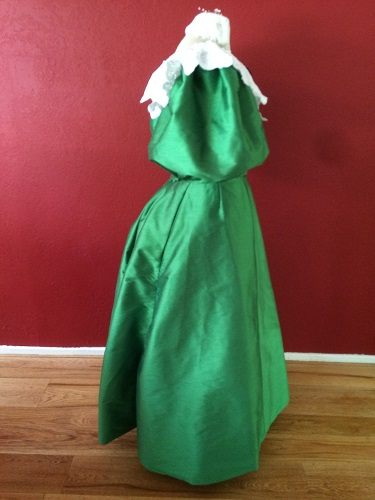 1890s Reproduction Green Ball Gown