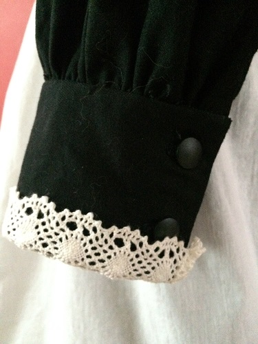 1910s Reproduction Edwardian Maid Dress Sleeve Cuff.