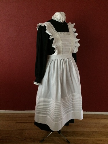 1910s Reproduction Edwardian Maid Right Quarter View.