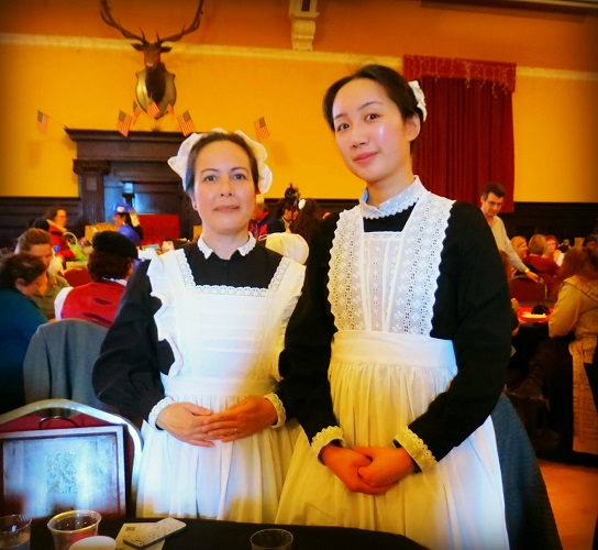 1910s Reproduction Edwardian Maids at the GBACG Open House 2016. Photo by Nedy McCann-Meyers