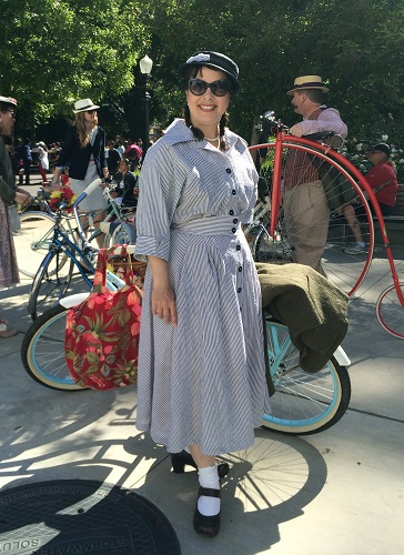 1950s reproduction seersucker dress at seersucker ride