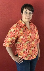 Butterick 6085 View A Poppy Shirt Right 3/4 View