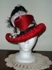 Reproduction Red Silk Tall Hat by Lynne Taylor: front view