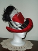 Reproduction Red Silk Tall Hat by Lynne Taylor: quarter view