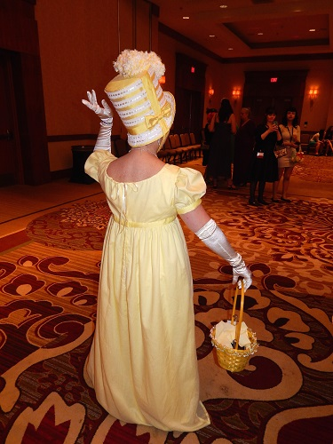 Reproduction Regency Yellow Dress Back. Photo by Vivien Lee.