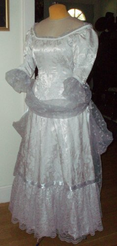 Gray Natural Form Bustle Dress