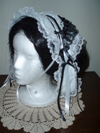 reproduction Victorian 1840s day cap