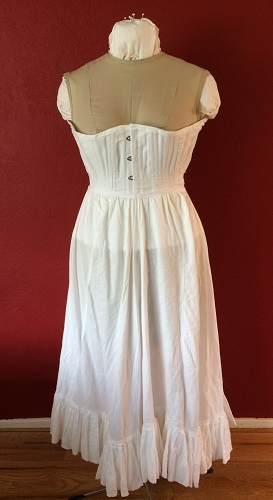 1900s Reproduction White Cotton Gored Pettiocoat.