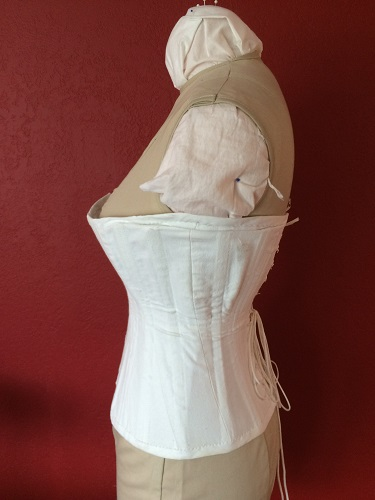 1900s Reproduction Straight S-Curve Corset Left.